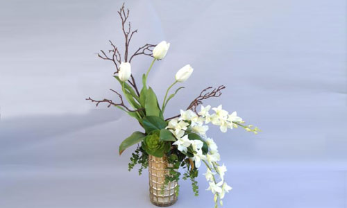 Artificial Flower Arrangements Orange County Ca Silk Orchids Succulents Trees Roses Peonies